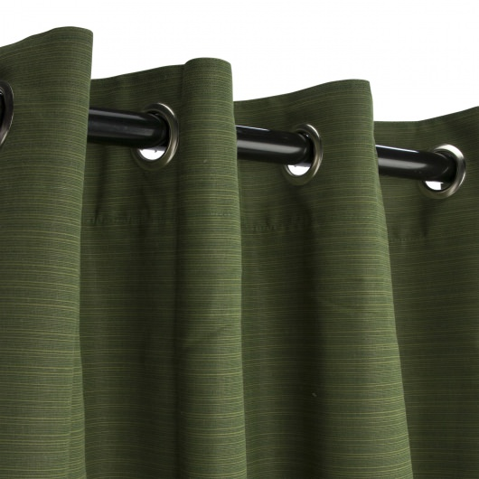 Sunbrella Dupione Palm Outdoor Curtain With Nickel Grommets 50 In X 96