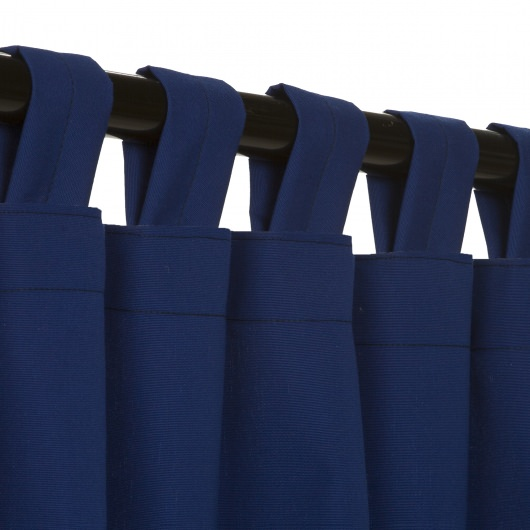 Sunbrella Canvas True Blue Outdoor Curtain with Tabs