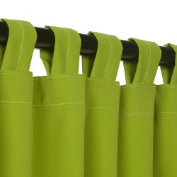 Macaw Green Sunbrella Outdoor Curtain with Tabs