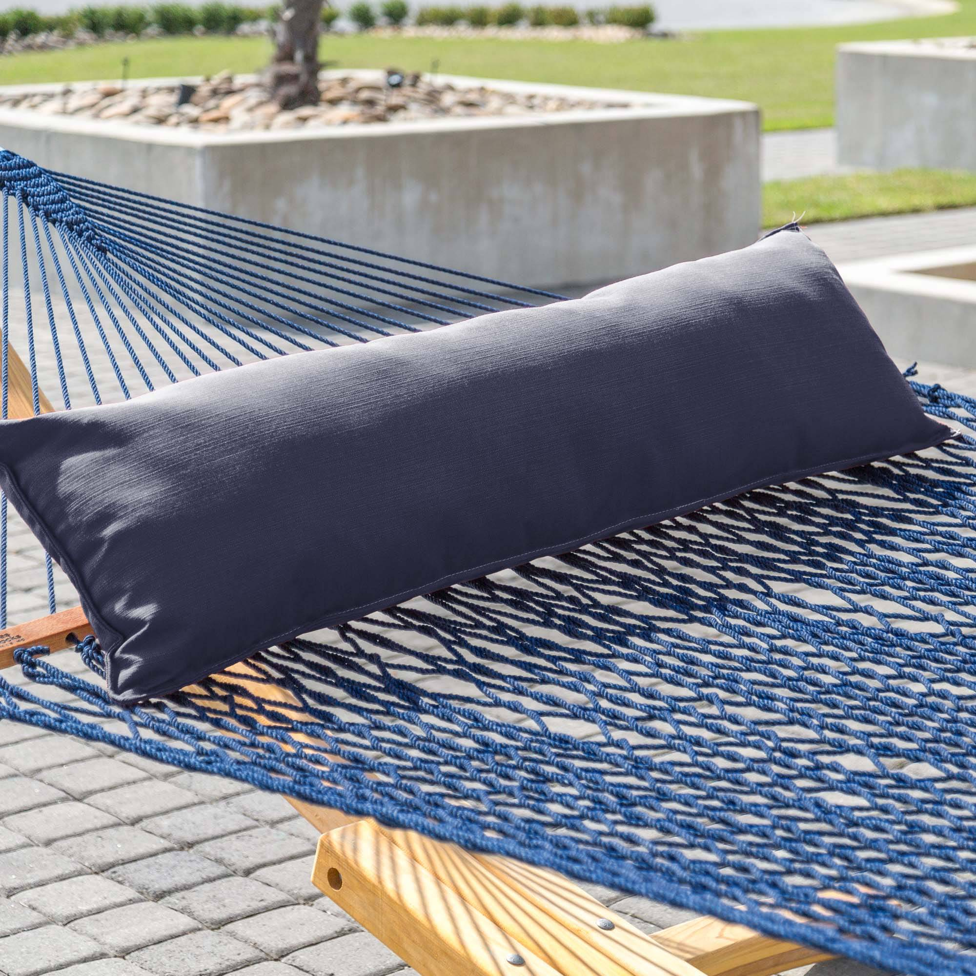 rope pillow algoma pillows and cotton pad p combination hammock stand