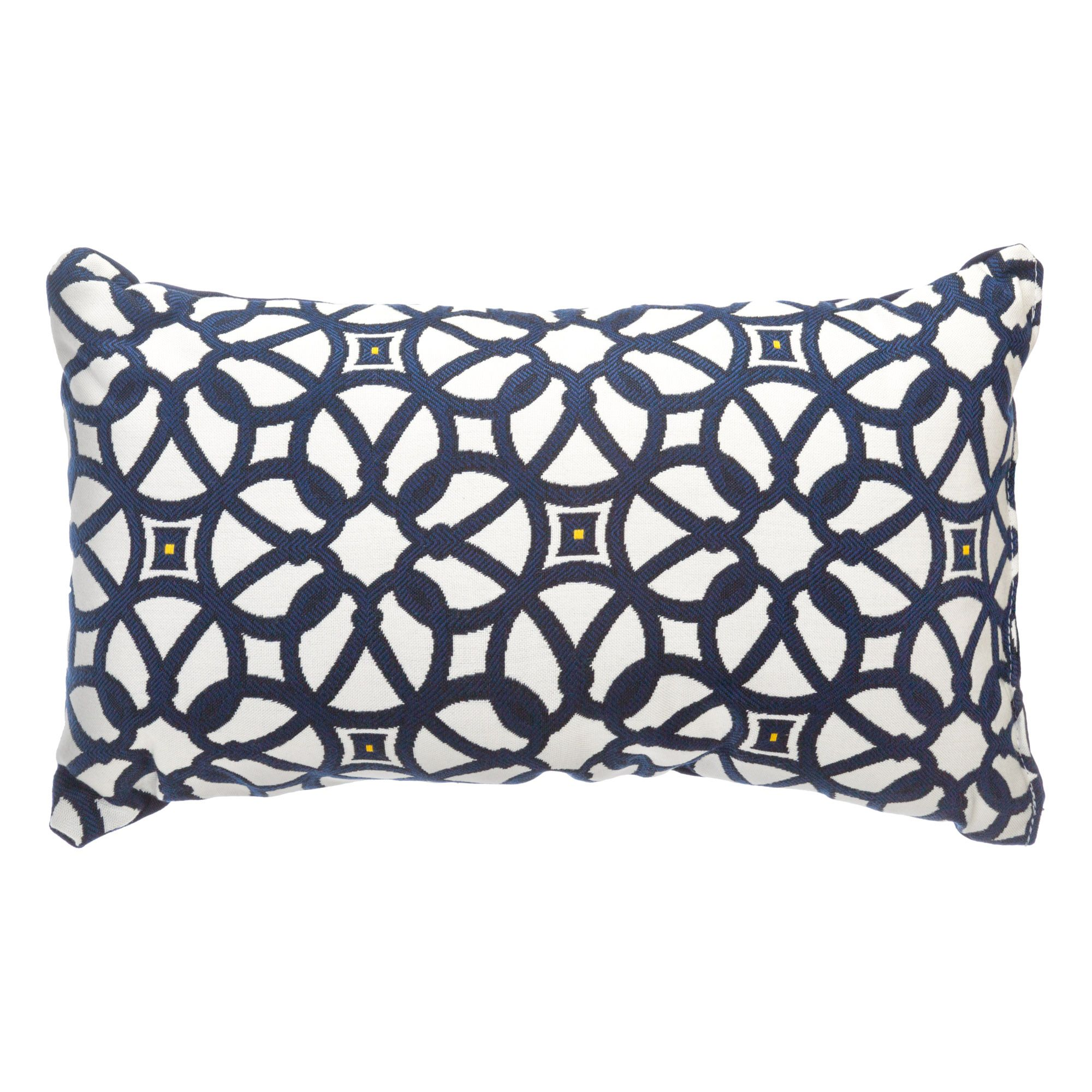luxe indigo sunbrella designer porch pillow - Sunbrella Pillows
