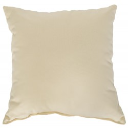Oatmeal Outdoor Throw Pillow