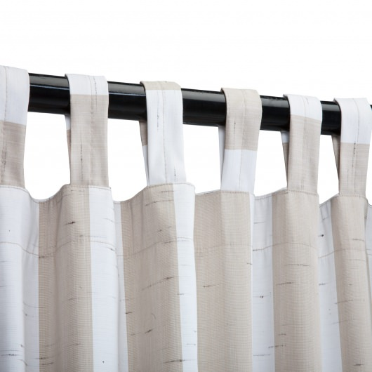 Sunbrella Decade Sand Outdoor Curtain with Tabs