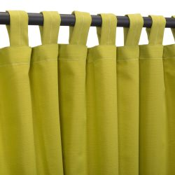 Echo Limelight Sunbrella Outdoor Curtain With Tabs