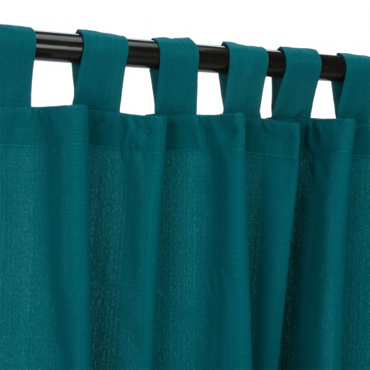 Emerald Outdoor Curtain with Tabs