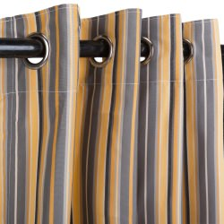 Foster Metallic Sunbrella Nickel Grommeted Outdoor Curtain