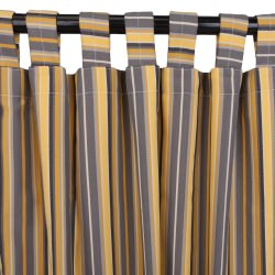 Foster Metallic Sunbrella Outdoor Curtain with Tabs