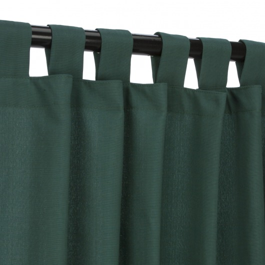 Green WeatherSmart Outdoor Curtain with Tabs