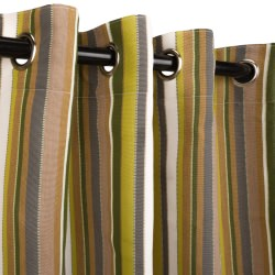 Carousel Limelight Sunbrella Nickel Grommeted Outdoor Curtain