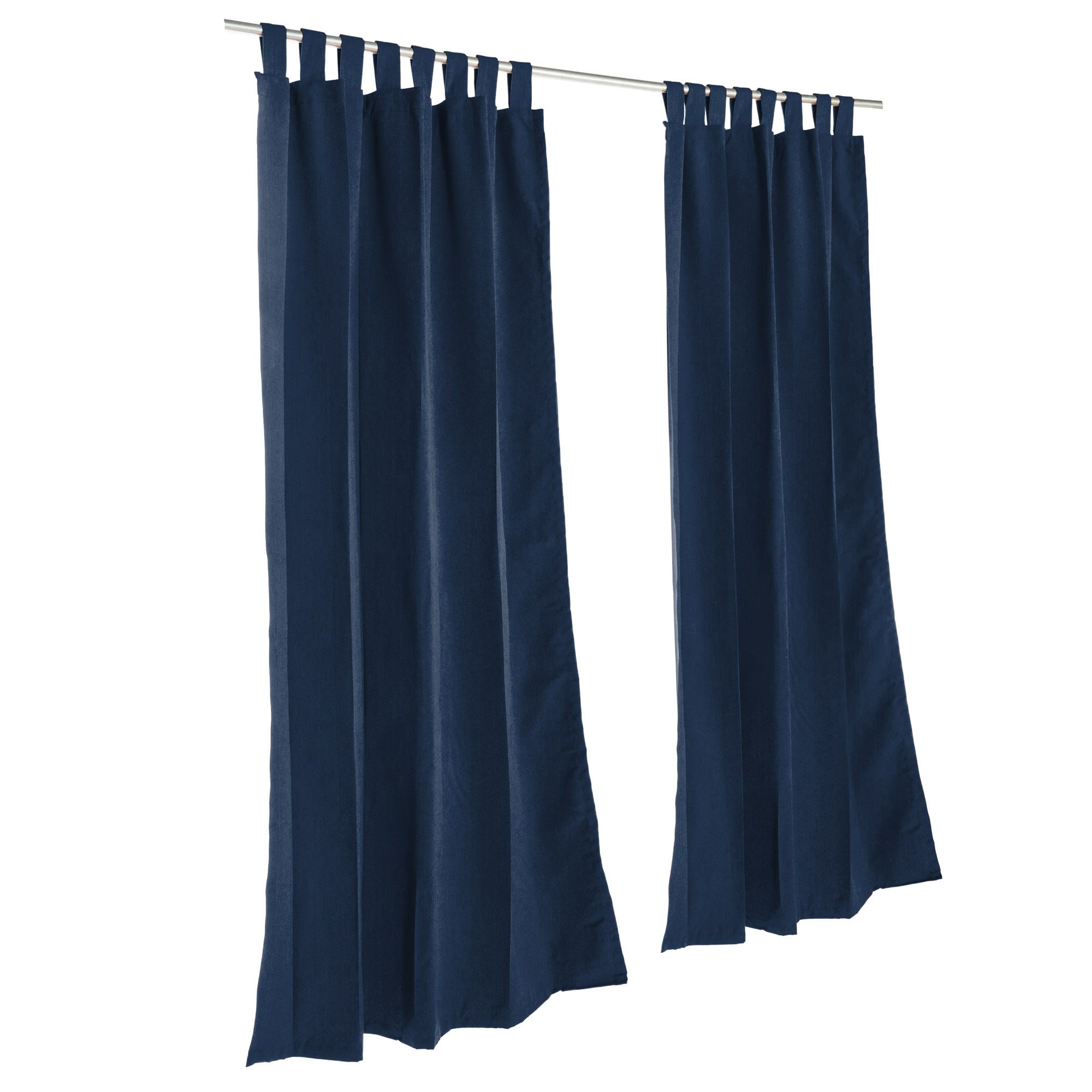 Navy Sunbrella Outdoor Curtain with Tabs by Essentials by DFO