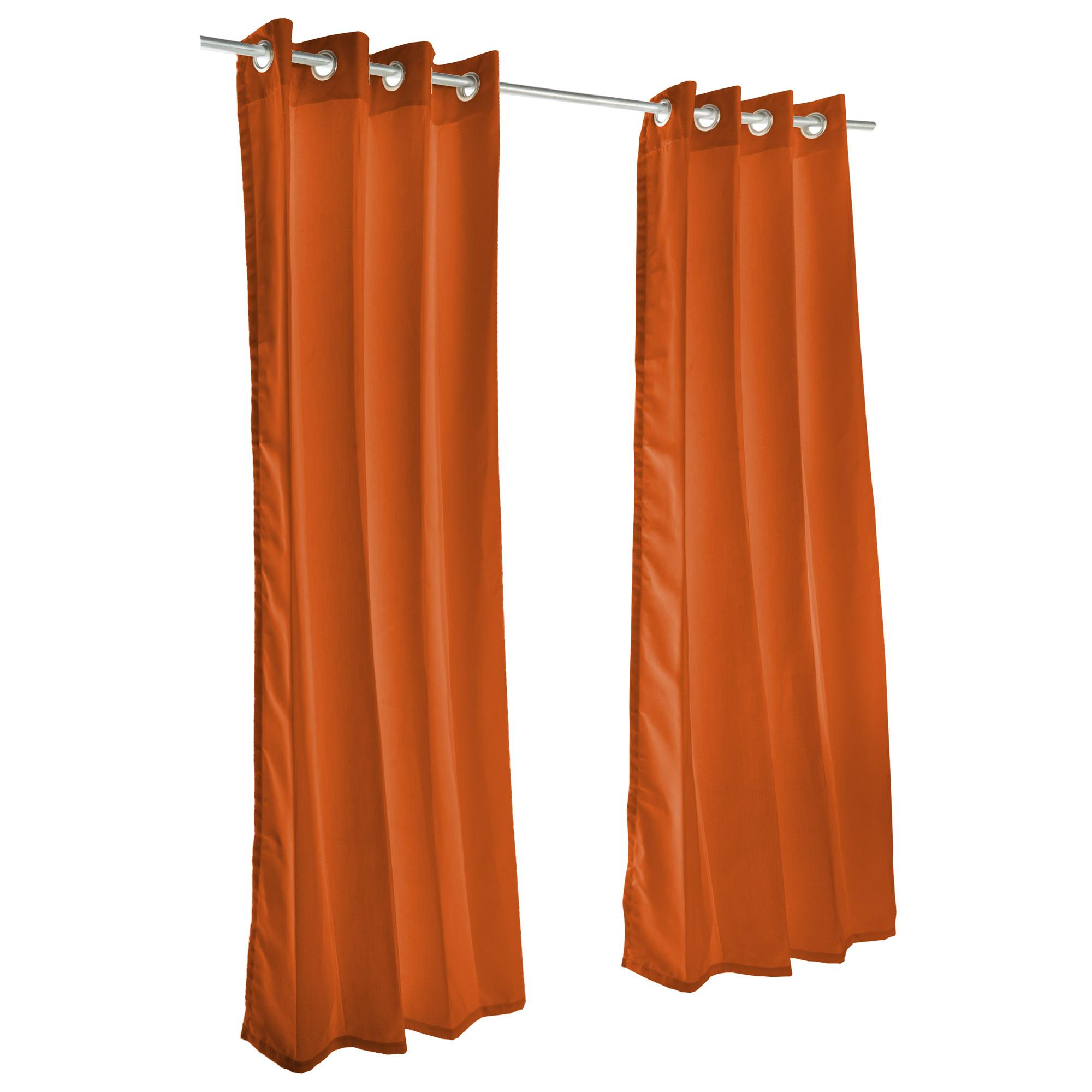 Rust Sunbrella Nickel Grommeted Outdoor Curtain by Essentials by DFO