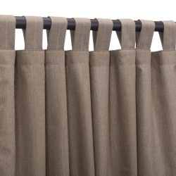 Cast Shale Sunbrella Outdoor Curtain With Tabs