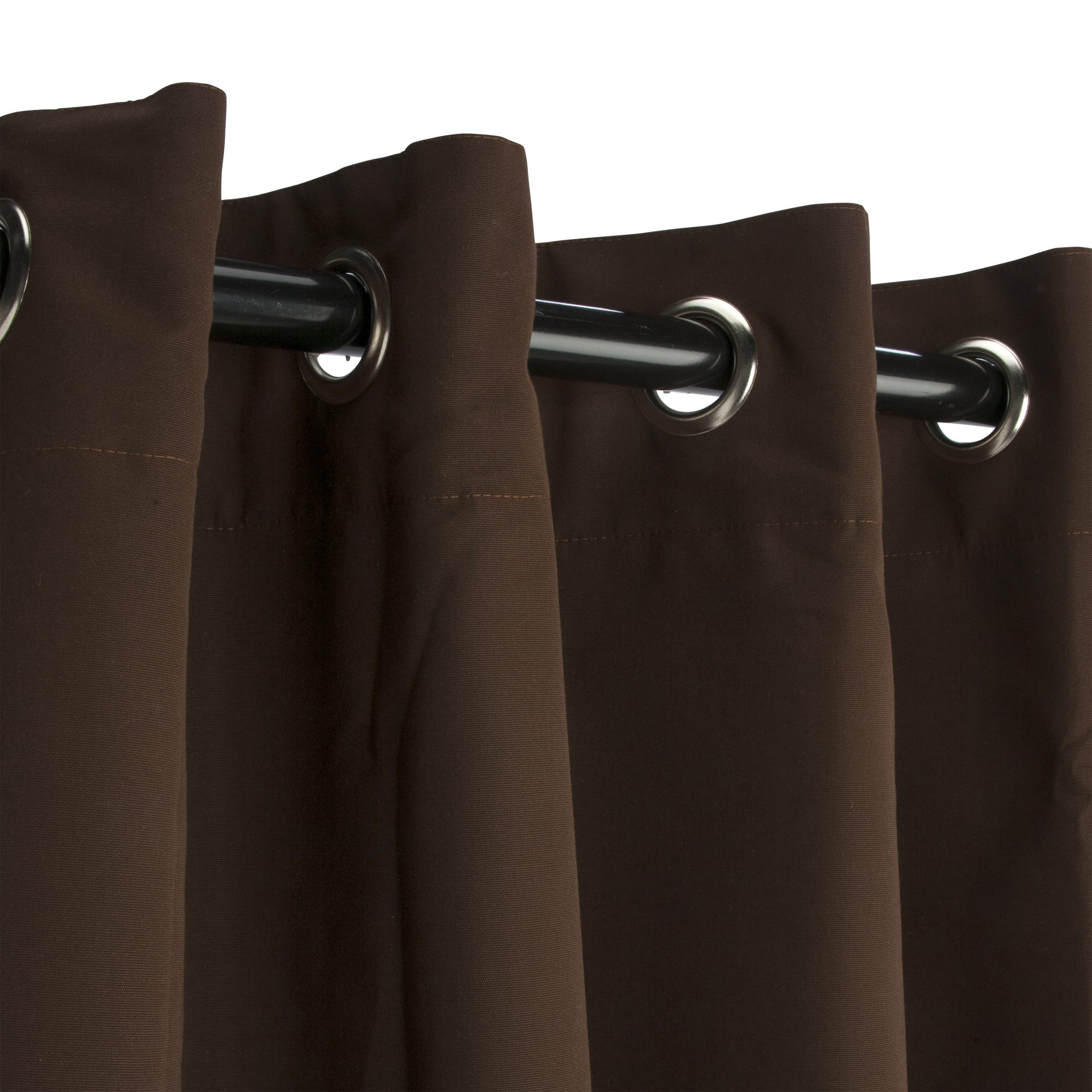 Bay Brown Sunbrella Grommeted Outdoor Curtains