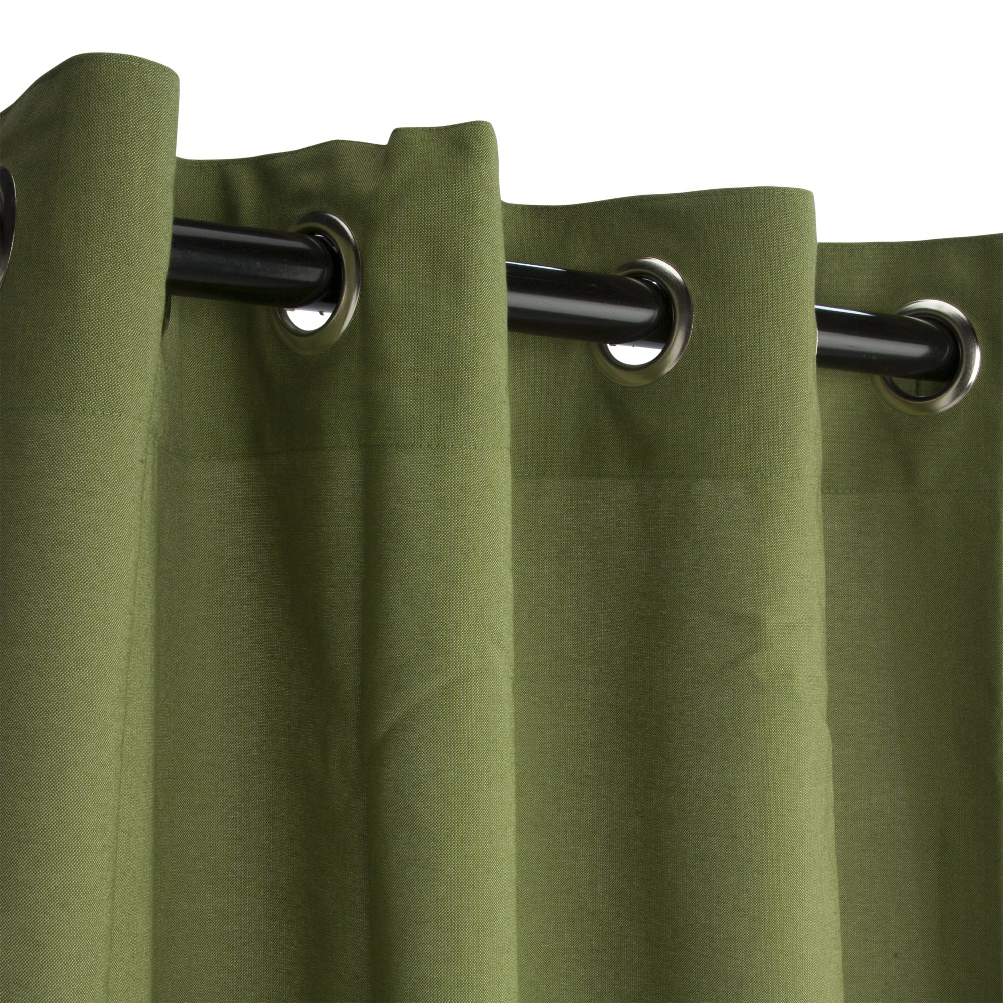 Sunbrella Spectrum Cilantro Outdoor Curtain with Nickel Plated Grommets