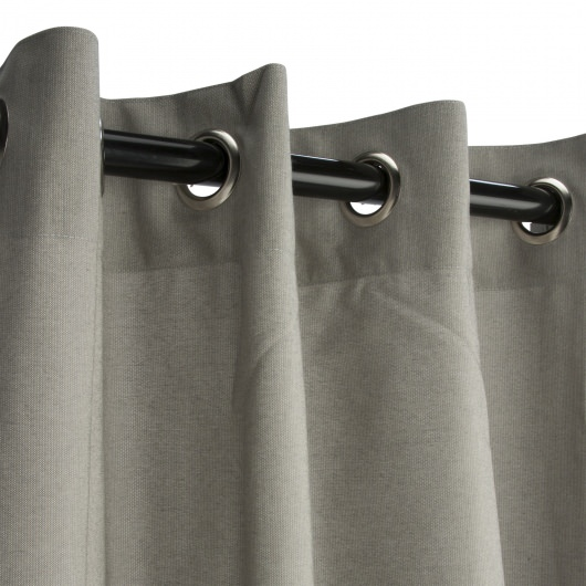 Sunbrella Spectrum Dove Outdoor Curtain with Nickel Plated Grommets