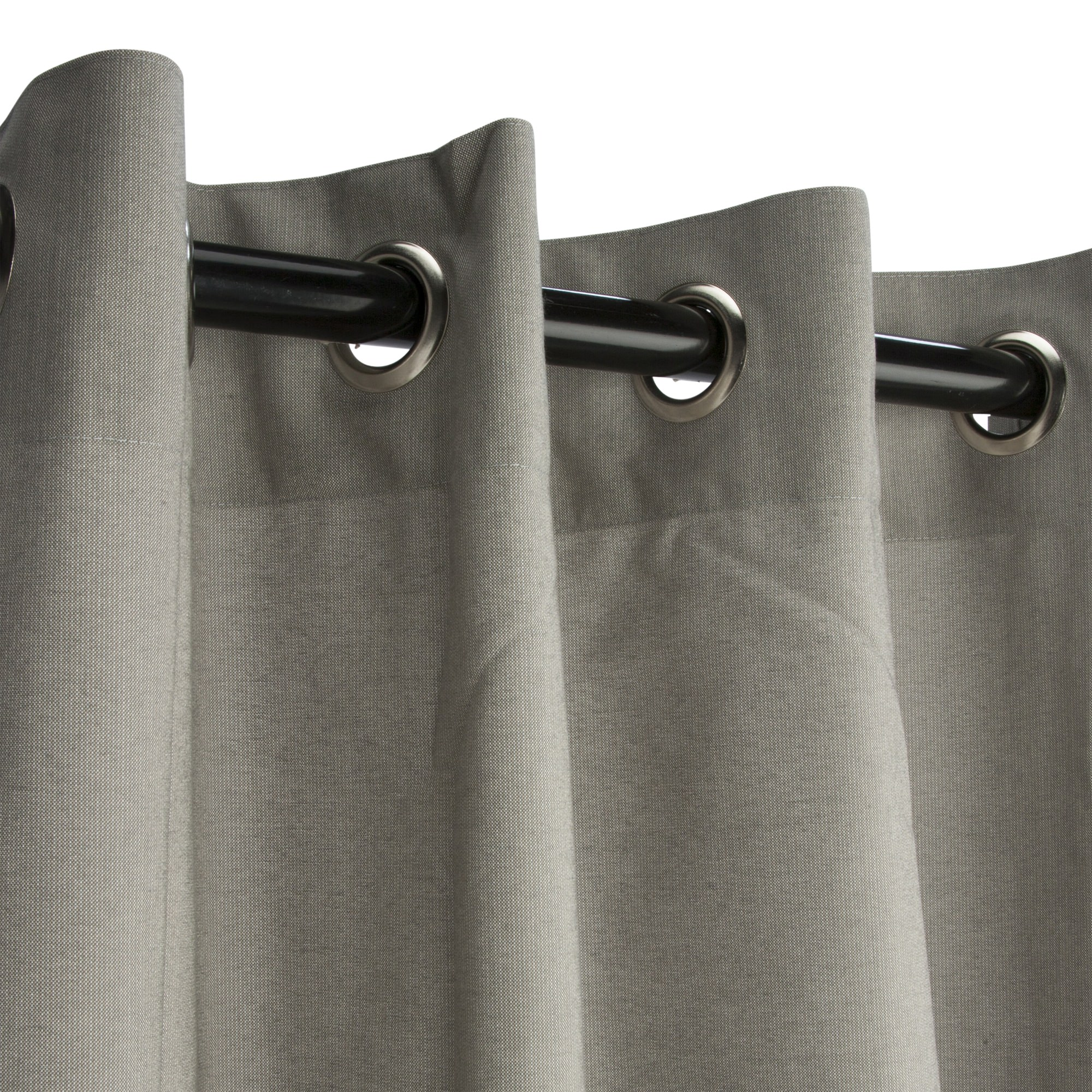 Dove Sunbrella Nickel Grommeted Outdoor Curtain by Essentials by DFO