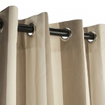 Regency Sand Sunbrella Nickel Grommeted Outdoor Curtain