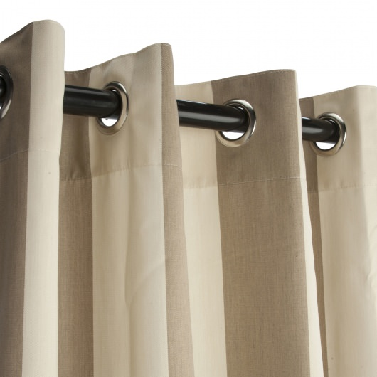 Sunbrella Regency Sand Outdoor Curtain with Nickel Plated Grommets