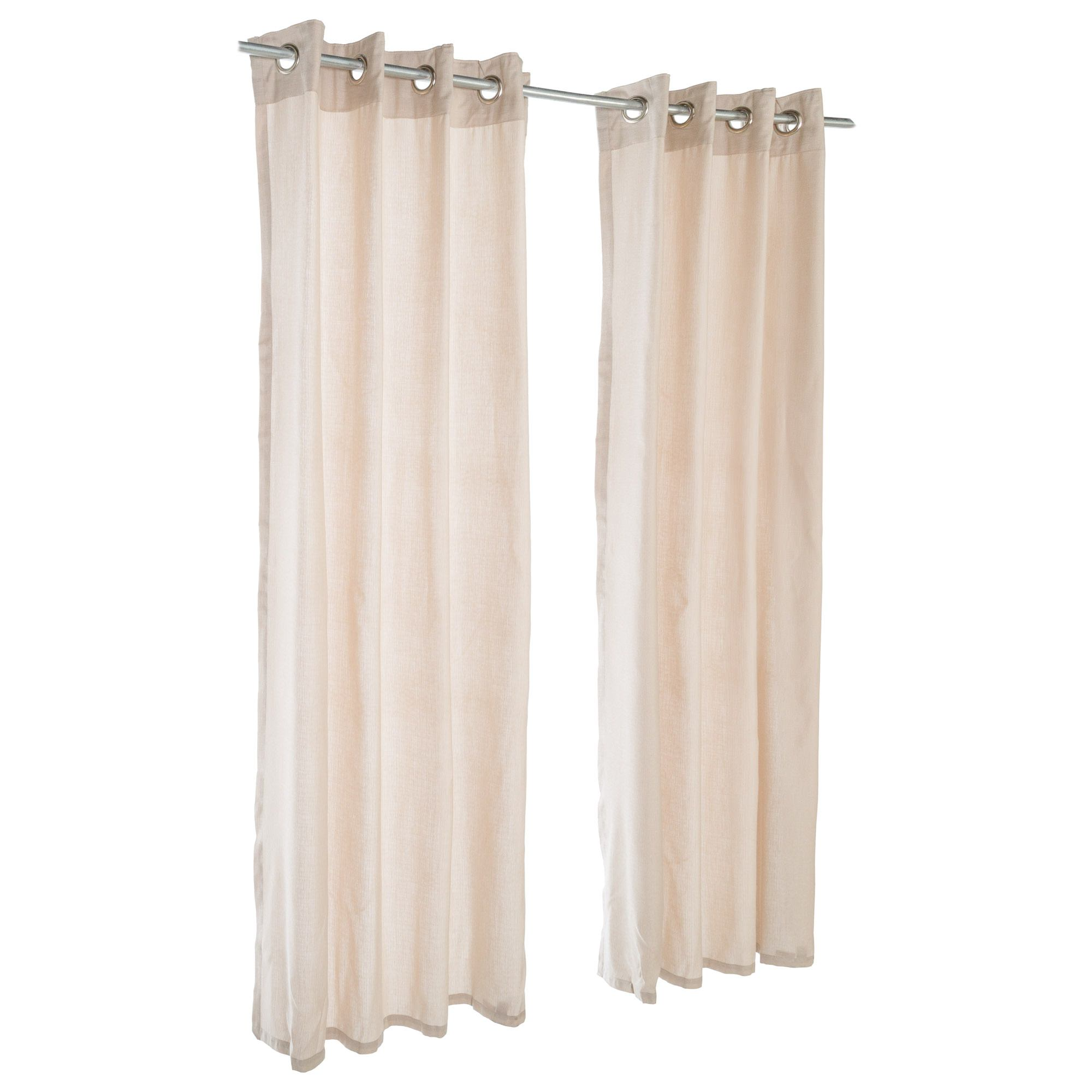 Sheer Wren Sunbrella Nickel Grommeted Outdoor Curtain by Essentials by DFO