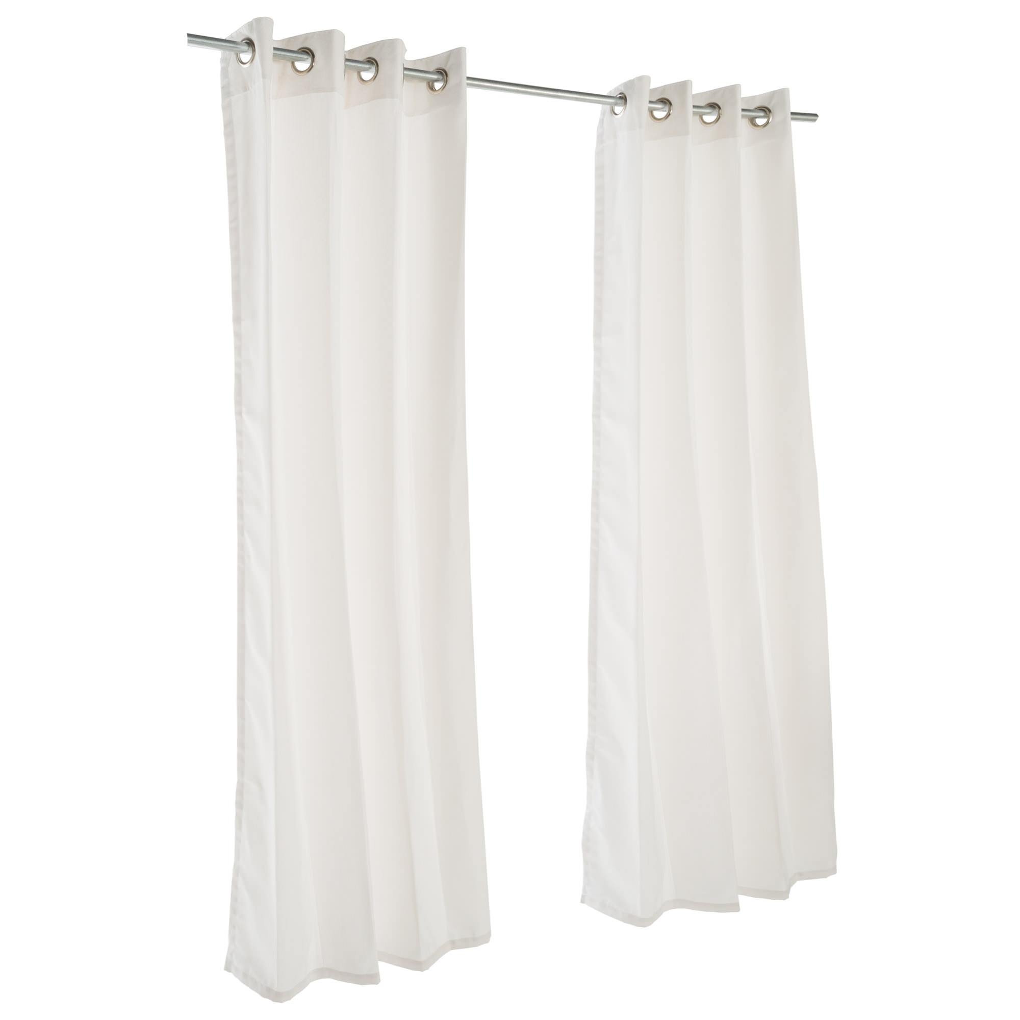 Canvas White Sunbrella Nickel Grommeted Outdoor Curtain by Essentials by DFO