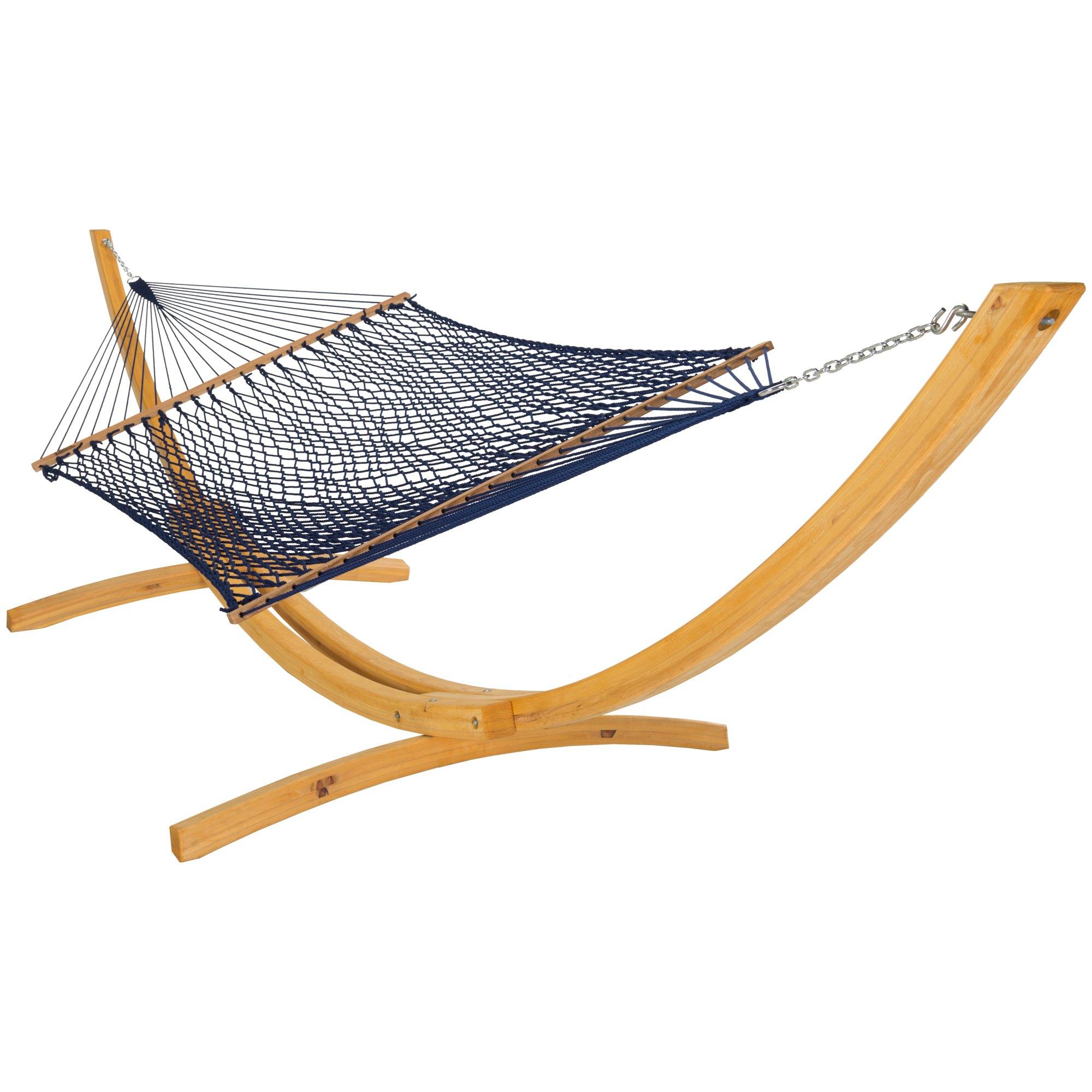 deluxe duracord rope hammock navy
