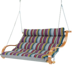 Deluxe Cushioned Double Swing - Icon Mystique Stripe