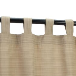 Dupione Sand Sunbrella Outdoor Curtain with Tabs