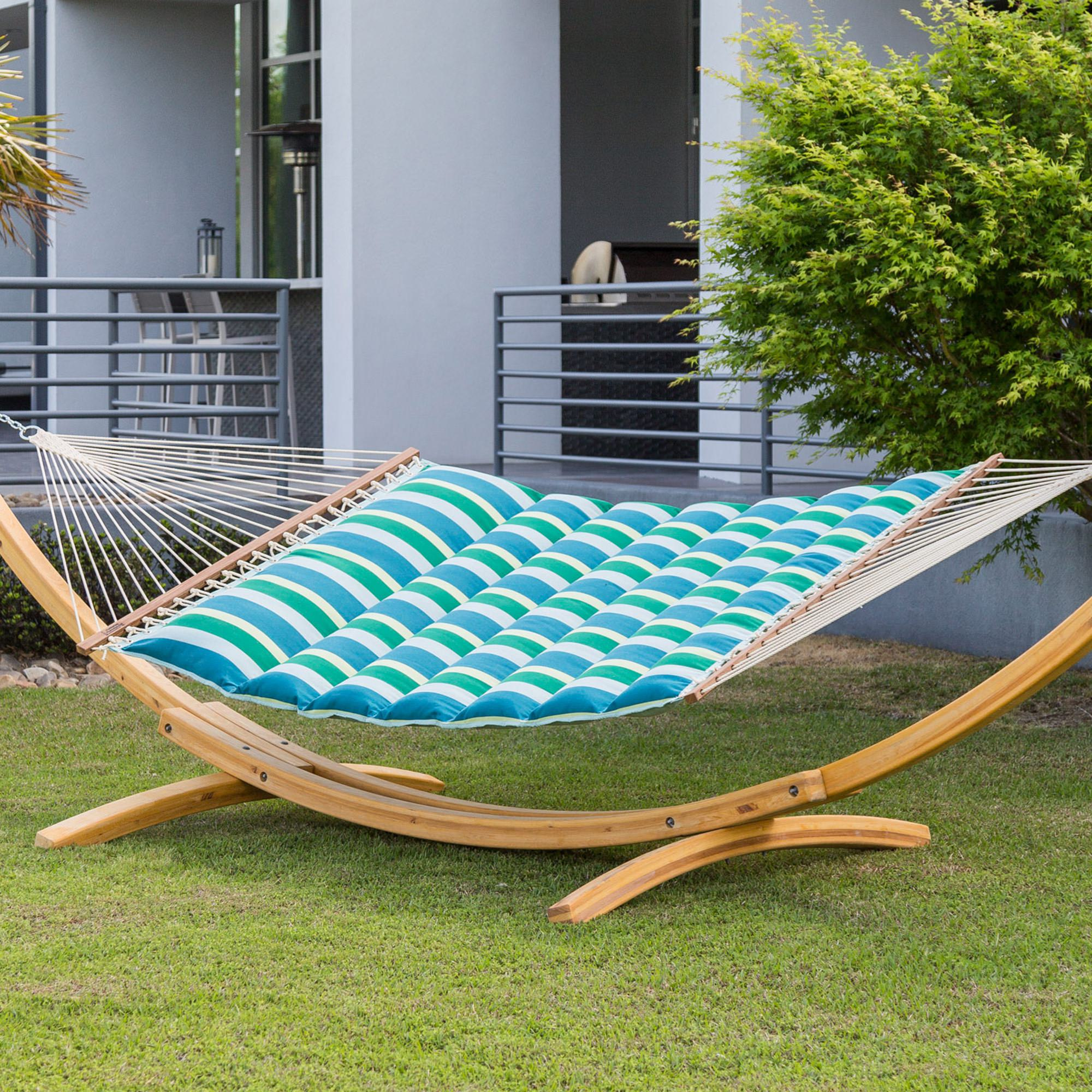 outdoor hammock set pillow pad pdx reviews pillows umbrella island retreat wayfair and