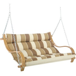Deluxe Cushioned Double Swing - Rio Birch Stripe
