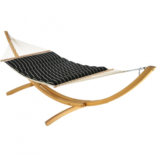 Pillowtop Hammock - Artist - Classic Black Stripe by Hatteras Hammocks
