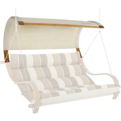 Deluxe Double Swing Canopy - Natural Chambray