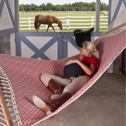 Quick-Dry Hammock - Equestrian - Red Watermark
