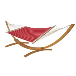 Quilted Hammock -  Classic Red Stripe