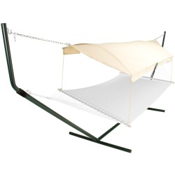 Hammock Canopy - Natural Fabric/Forest Green Poles