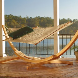 4-Ply Cypress Roman Arc 15 ft. Wood Hammock Stand