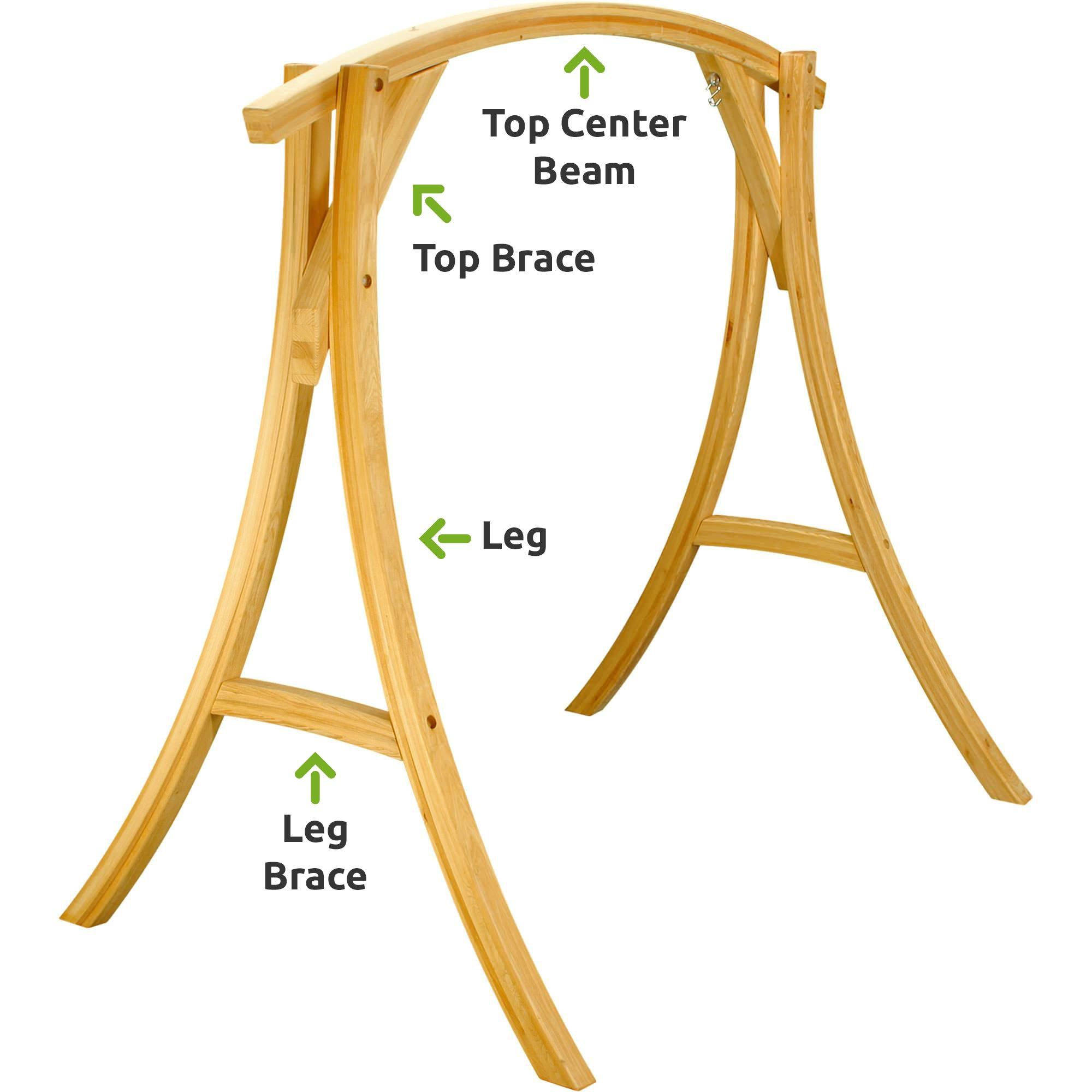 Cypress Wood Swing Stand Replacement Parts Hatteras