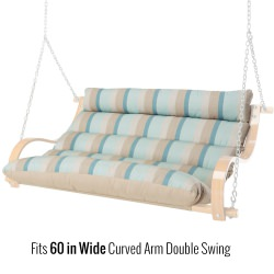 48 Inch Replacement Cushion for 60 Inch Curved Arm Double Swing
