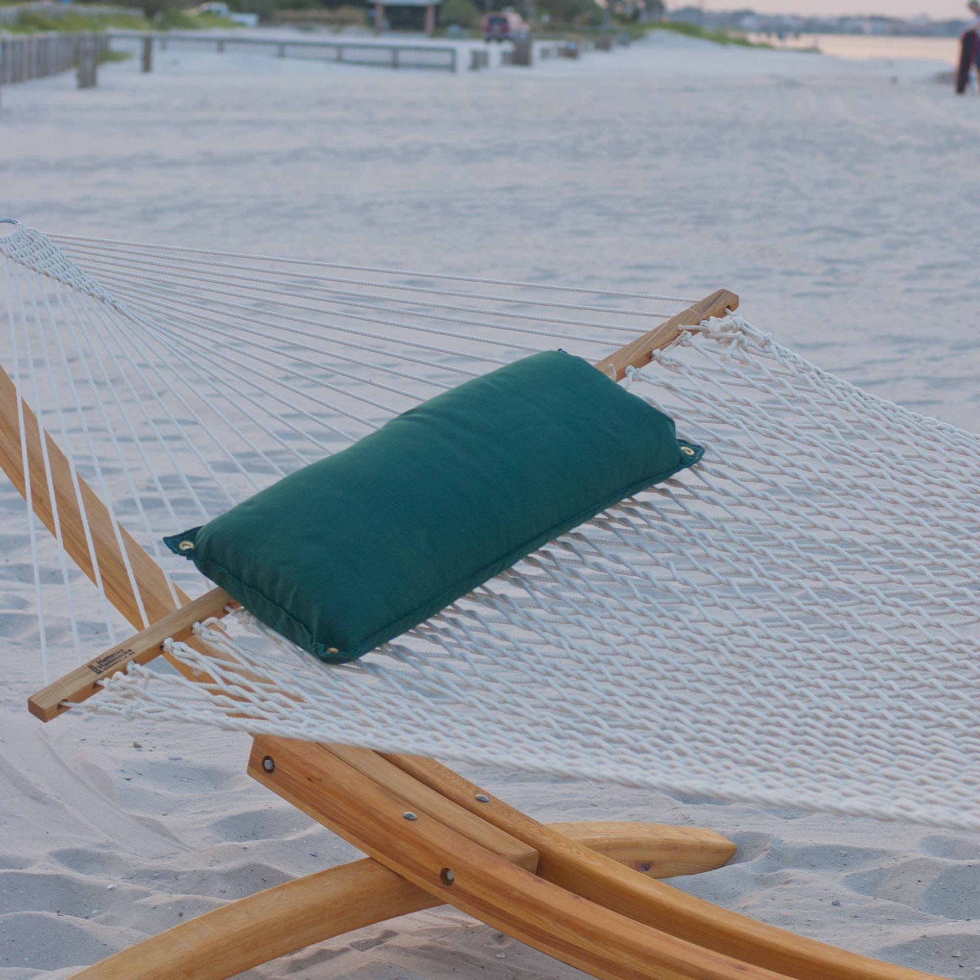 Large White Polyester Rope Hammock by Hatteras Hammocks