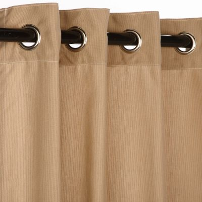 Sunbrella Spectrum Sand Outdoor Curtain with Grommets