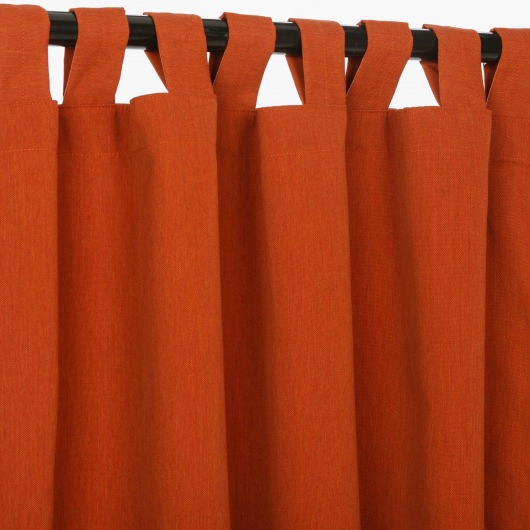 Sunbrella Canvas Brick Outdoor Curtain with Tabs