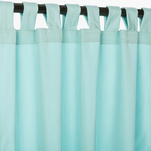 Sunbrella Canvas Glacier Outdoor Curtain with Tabs