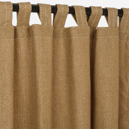 Sunbrella Linen Sesame Outdoor Curtain with Tabs