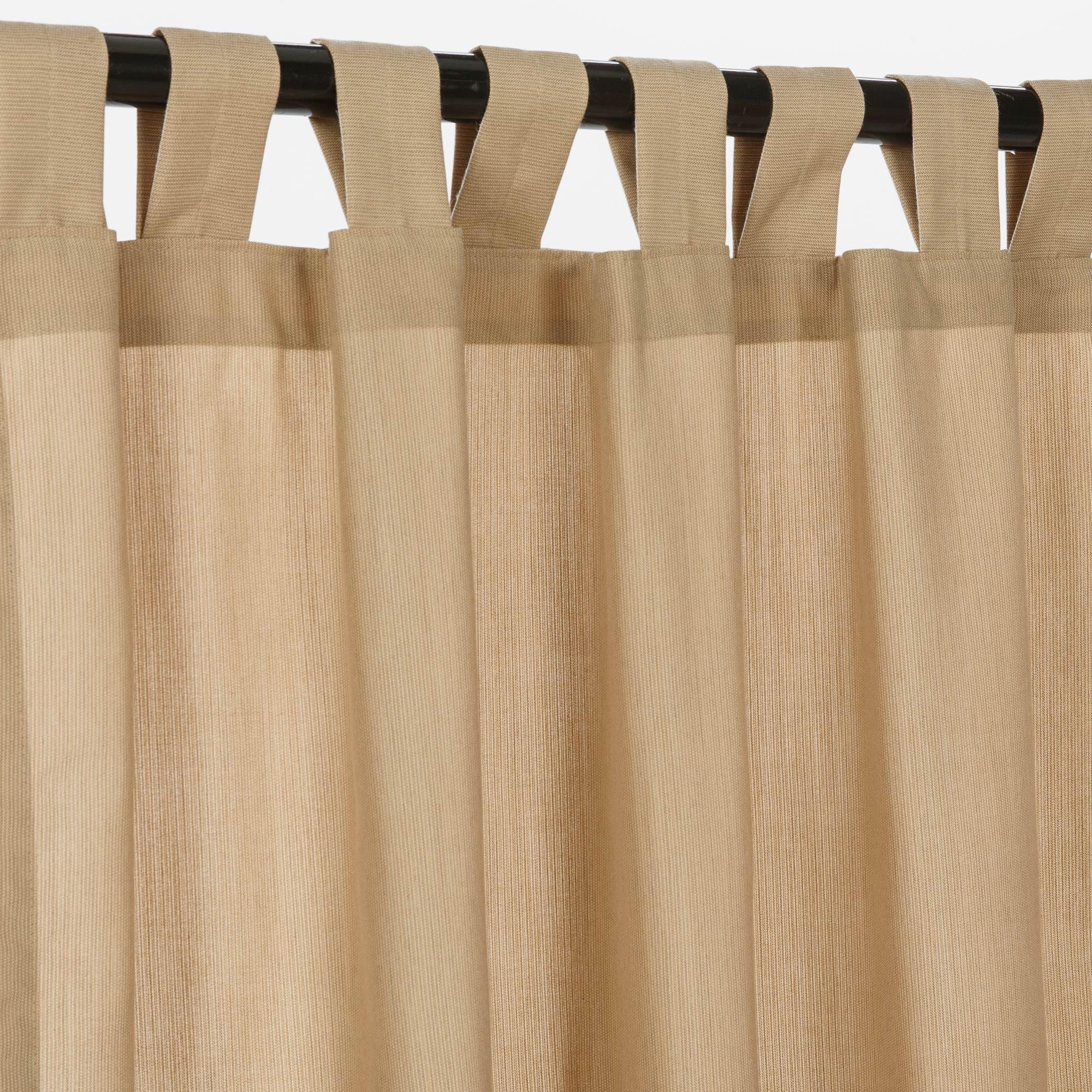Spectrum Sand Tabbed Sunbrella Outdoor Curtains