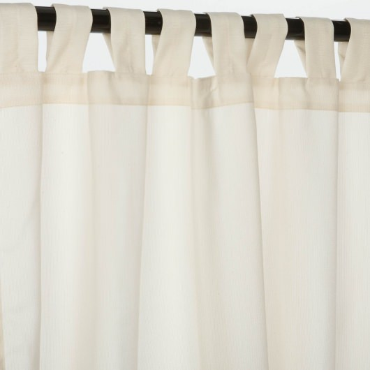 Sunbrella Spectrum Eggshell Outdoor Curtain with Tabs