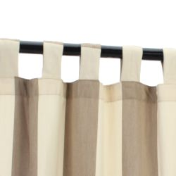 Regency Sand Sunbrella Outdoor Curtain With Tabs