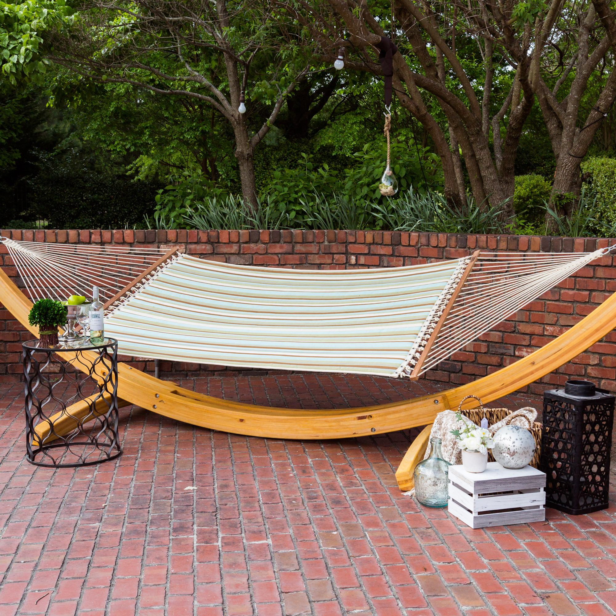 Quilted Hammock - Spring Bay Stripe