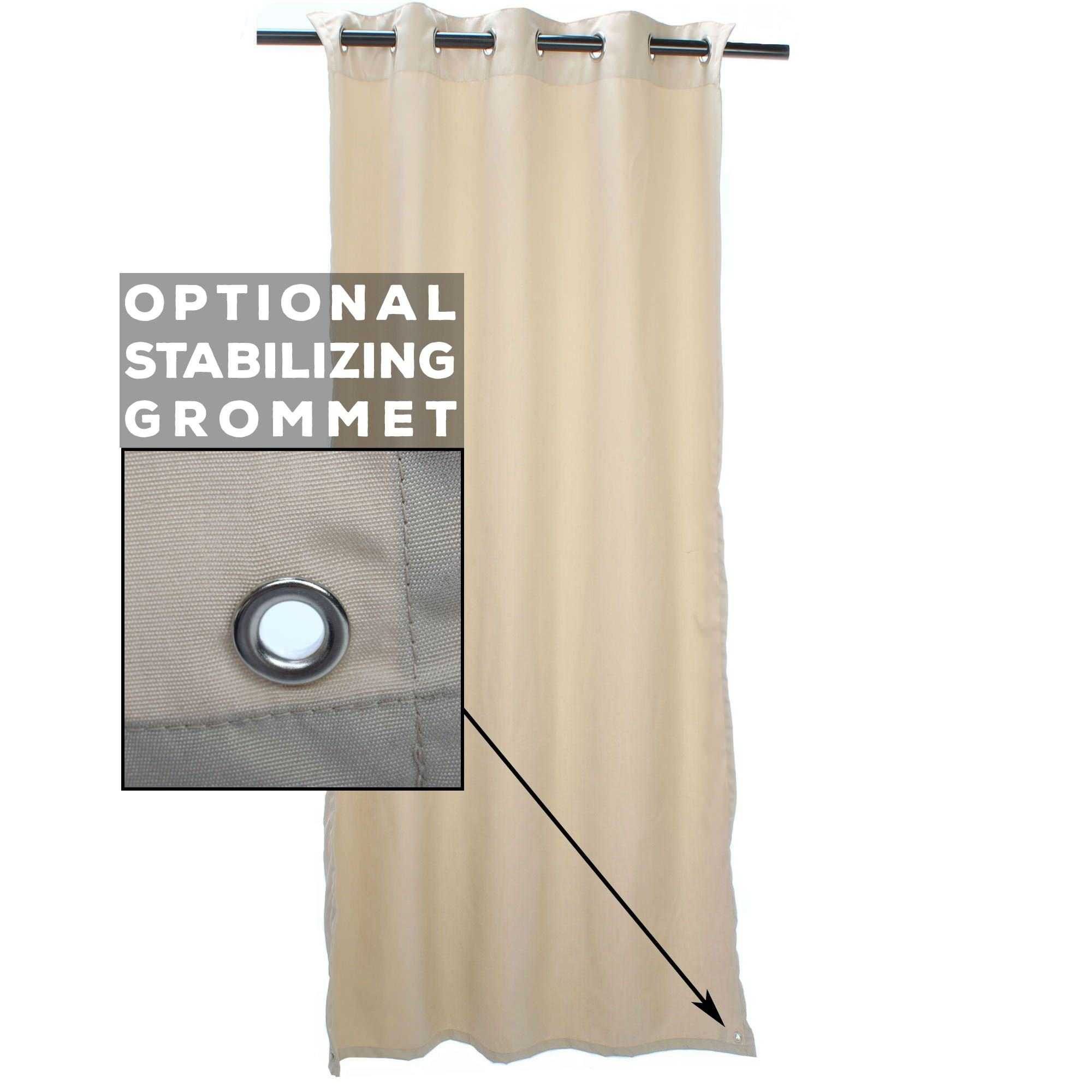Bay Brown Sunbrella Outdoor Curtain with Tabs by Essentials by DFO