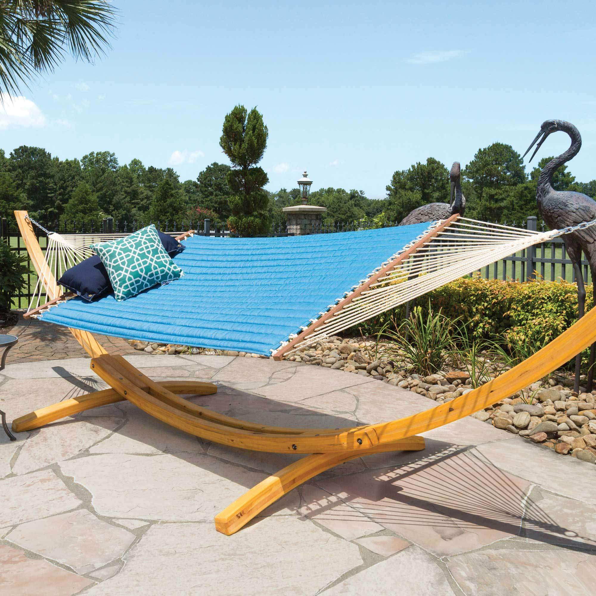 xx arm island swings curved rope hammock double swing chains pawleys hammocks