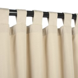 Sunbrella Outdoor Curtain With Tabs - Antique Beige - 50x108