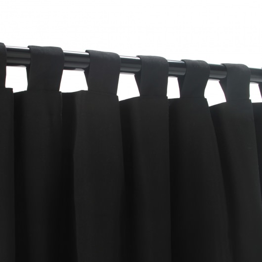 Sunbrella Canvas Black Outdoor Curtain with Tabs